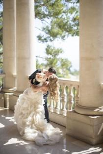 wedding photo - Ruffled Skirt On Strapless Bridal Gown
