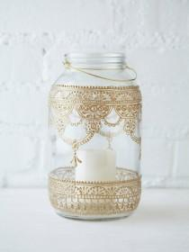 wedding photo - 64 Oz. Mason Jar Lantern