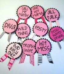 wedding photo - Bachelorette Party Pins, Name Tags, Bachelorette Sash, Bachelorette Party Decorations