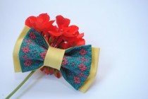 wedding photo - Embroidered yellow jade bowtie Red jade pattern Groom's bowtie The best for groomsmen Bridal gift Weddingday Chic and nice tie Bachelor