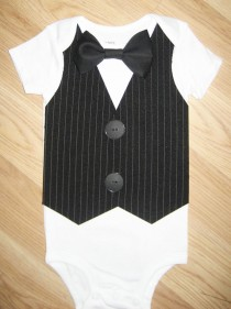 wedding photo - Little man tuxedo  Baby tuxedo Baby bow tie Little man birthday outfit Baby boy  birthday outfit  Infat boy coming home Ring bearer suit