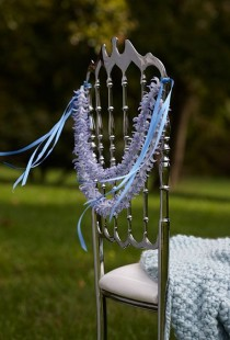 wedding photo - Blue Hyacinth Garland Wedding Decor