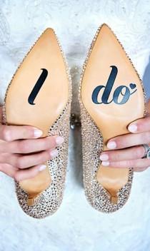 wedding photo - I Do Shoe Sticker - Wedding Vinyl Decal