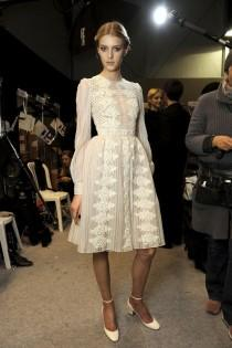 wedding photo - PFW BACKSTAGE: VALENTINO F/W 2012