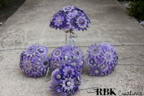 wedding photo - Custom Embroidered Felt Bouquet Set
