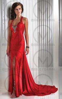 wedding photo -  red elegant dresses