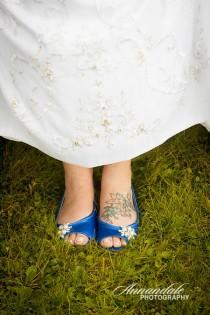 wedding photo - Wedding Shoes - Flat Wedding Shoes - Flats - Pearl And Crystal - Blue Shoes - Choose Over 100 Colors - Shoes - Comfortable Shoes - Parisxox