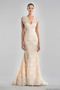 wedding photo - Carolina Herrera Fall 2015 Blush Lace Marmaid Wedding Dress
