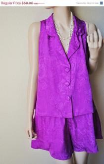 3a7c22abcd ON SALE Vintage Purple Button Up Pajama Set - by Victoria s Secret - Medium  - NWT