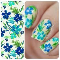 wedding photo - Tropical Pattern Nails - Paulina's Passions