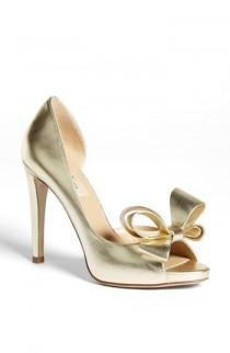 "wedding photo - Women's Valentino 'Couture Bow' D'Orsay Pump, 4"" Heel"