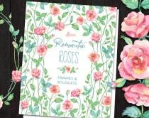 wedding photo - Romantic Roses: frames, bouquets, wreaths watercolor Clipart. Hand painted, floral, wedding diy, quote, flowers, invite, wood, roses, png
