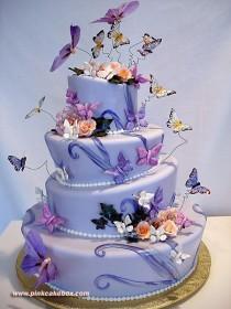 wedding photo - Topsy Turvy Quinceanera Cake