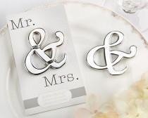 wedding photo - 96 Ampersand Mr And Mrs Bottle Opener Wedding Favors