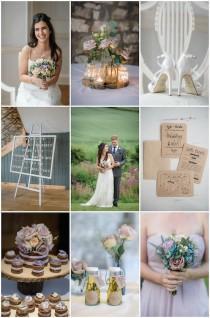wedding photo - Rustic English Barn Wedding with Pretty DIY Details