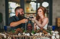 wedding photo - This styled nautical wedding shoot will channel your classy inner pirate