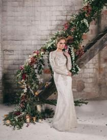 wedding photo - Watercolor Industrial Wedding Inspiration In An Old Factory