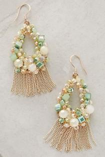 wedding photo - Anthropologie - Anthropologie Fringed Wreath Earrings
