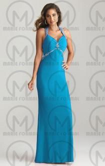 wedding photo -  a blue elegant dresses