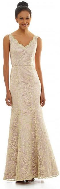 wedding photo - JS Collections Floral-Embroidered Gown