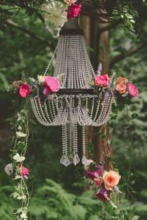 wedding photo - Romantic Flower Chandeliers ~