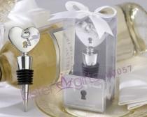wedding photo - Acheter Livraison gratuite 200 pcs Key To My Heart Chrome bouchon de bouteille ensemble WJ057 faveur de mariage de anniversaire faveur fiable fournisseurs sur Shanghai Beter Gifts Co., Ltd.