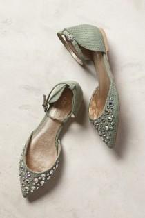wedding photo - Anthropologie - Seychelles Rule Of Thumb D'Orsays Mint 10 Flats