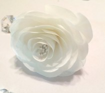 wedding photo -  Paper Camellia, Wedding cake Camellias, White coffee Filter Camellia, Paper flowers, Fake flowers, Baby Shower decor, Centerpiece flowers