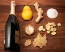 wedding photo - Recipe: Pear & Ginger Champagne Cocktail