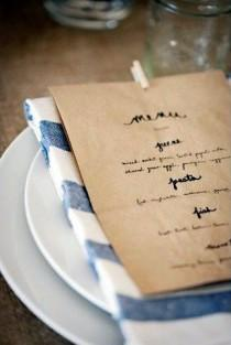 wedding photo - Place Settings