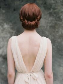 wedding photo - Bridal Updo - Wedding Hair Inspiration - Wedding Sparrow