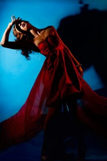 wedding photo - Red Rosette Dress
