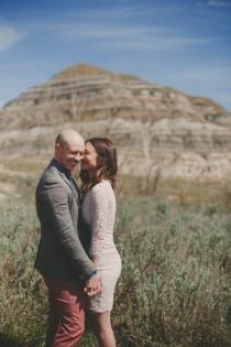 wedding photo - Striking Red Deer River Engagement Session