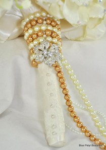 wedding photo - Jeweled Wedding Bouquets