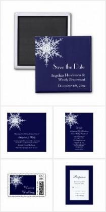 wedding photo - Winter Wedding Snowflake Collection