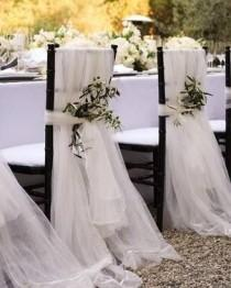 wedding photo - CHAIR COVER  TULLE CHAIR COVERS - CHAIR COVER
