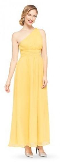 b307018e3a Tevolio Women s Chiffon One Shoulder Maxi Bridesmaid Dress Calm Yellow 4