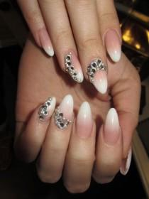 wedding photo - PINK AND WHITE FADE By Malishka702 From Nail Art Gallery
