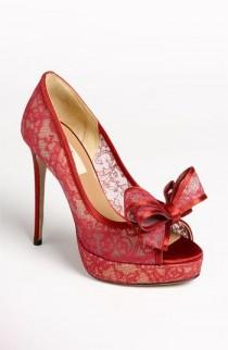 wedding photo - Valentino Lace Couture Pump