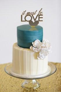 wedding photo - Two-Tiered Cake With Custom Topper