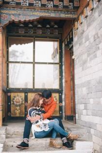 wedding photo - Destination Engagement Photos In Bhutan