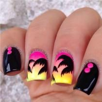 wedding photo - 20 Eye-Catching Neon Nail Patterns To Consider This Summer Time