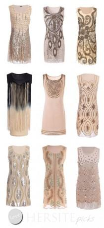 wedding photo - 15 Gatsby Style 1920s Flapper Dresses You Can Buy Under $30 Dollars