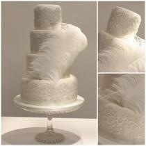 wedding photo - The Not-So-Great Gatsby Wedding Cake
