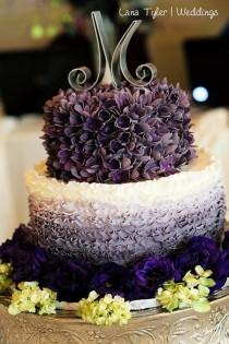 wedding photo - Ombre Wedding Cake — Round Wedding Cakes