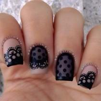 wedding photo - 60 Lace Nail Art Designs & Tutorials For You To Get The Fashionable Look