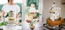 wedding photo - How to: Cheese Wheel Wedding Cakes