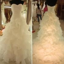 wedding photo -  Lace-up Wedding Dress with Rich Ruffles Sweetheart Bridal Gown