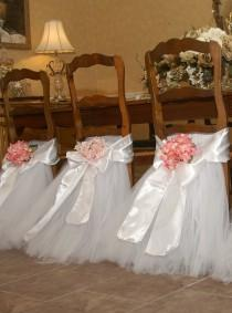wedding photo - Polyester Chair Sash - Ivory [404025]