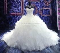 wedding photo -  Corset Wedding Dress Sweetheart Bridal Gown Ruffled Bridal Dress Ball Gown